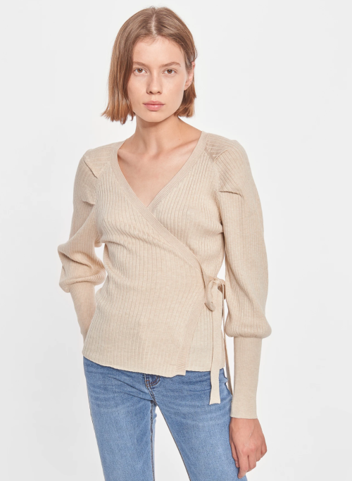 SR Maria LS Wrap Around Knit